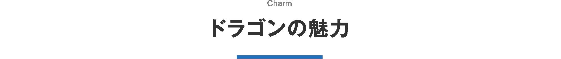 ドラゴンの魅力 Charm